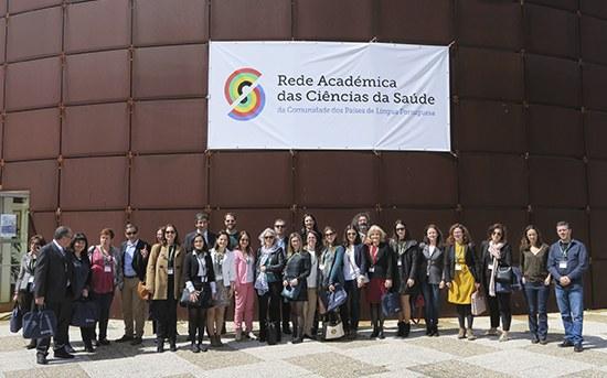 Delegação da ESS - P.Porto na reunião da Rede Académica das Ciências da Saúde da CPLP